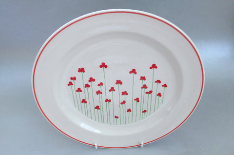 Boots - Poppies - Dinner Plate - 10\