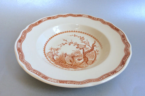 "Furnivals - Quail - Brown - Rimmed Bowl - 8 7/8"" - The China Village"