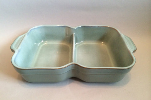 "Denby - Regency Green - Serving Dish - Divided - 12 1/2"" x 8 1/4"" - The China Village"