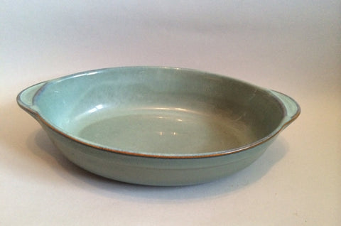 "Denby - Regency Green - Serving Dish - Oval - 12 5/8"" - The China Village"