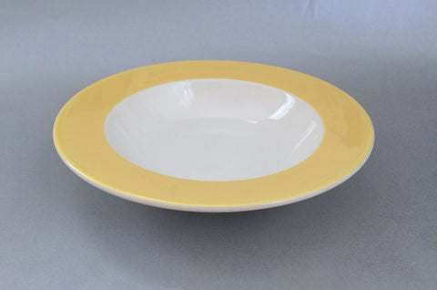 "Marks & Spencer - Spectrum - Yellow - Rimmed Bowl - 8 1/4"" - The China Village"
