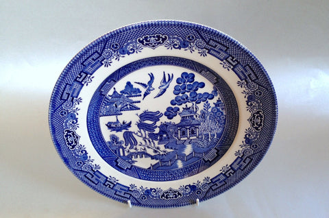 "Churchill - Willow - Blue - Breakfast Plate - 9 1/2"" - The China Village"