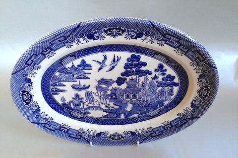 "Churchill - Willow - Blue - Oval Platter - 12"" - The China Village"