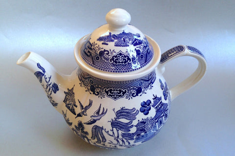 Churchill - Willow - Blue - Teapot - 2pt - The China Village