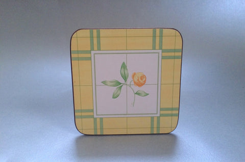 "Marks & Spencer - Yellow Rose - Coaster - Set of 6 - 4"" x 4"" - The China Village"
