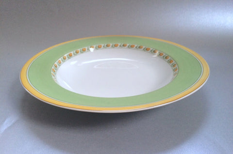 "Marks & Spencer - Yellow Rose - Rimmed Bowl - 9"" - The China Village"