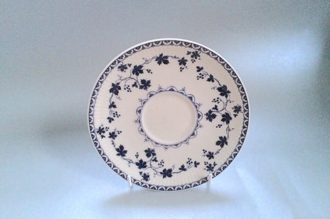 "Royal Doulton - Yorktown - Old Style - Ribbed - Tea Saucer - (Flatter Style) - 6 1/4"" - The China Village"