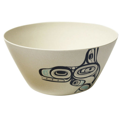 "Bamboo Bowl (10"") - Whale by Ernest Swanson"