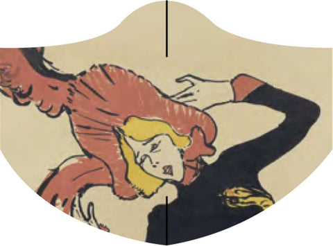 Loqi Museum Face Mask- Toulouse Lautrec Jane Avril