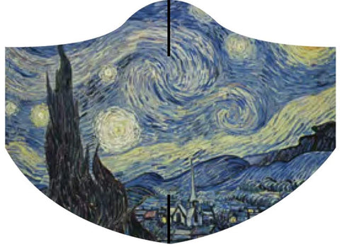 Loqi Museum Face Mask- Vincent Van Gogh Starry Night