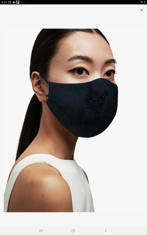 100 % Silk lined Mask