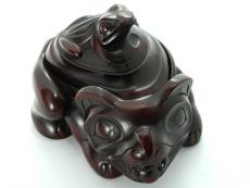 Bear & Frog Spirit Box (rosewood) By Thomas McPhee