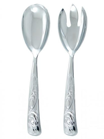 Chromium Plated Eagle Salad Serving Set
