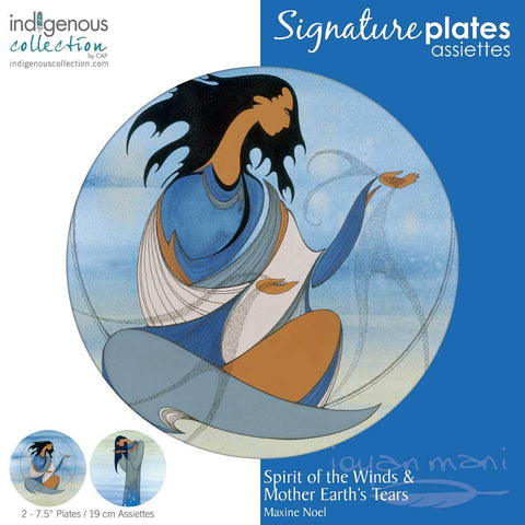 "SPIRIT OF THE WINDS & MOTHER EARTH'S TEARS 7.5 "" PLATE SET"