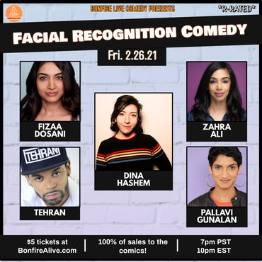 Facial Recognition Comedy (Friday, February 26th at 10PM EST)