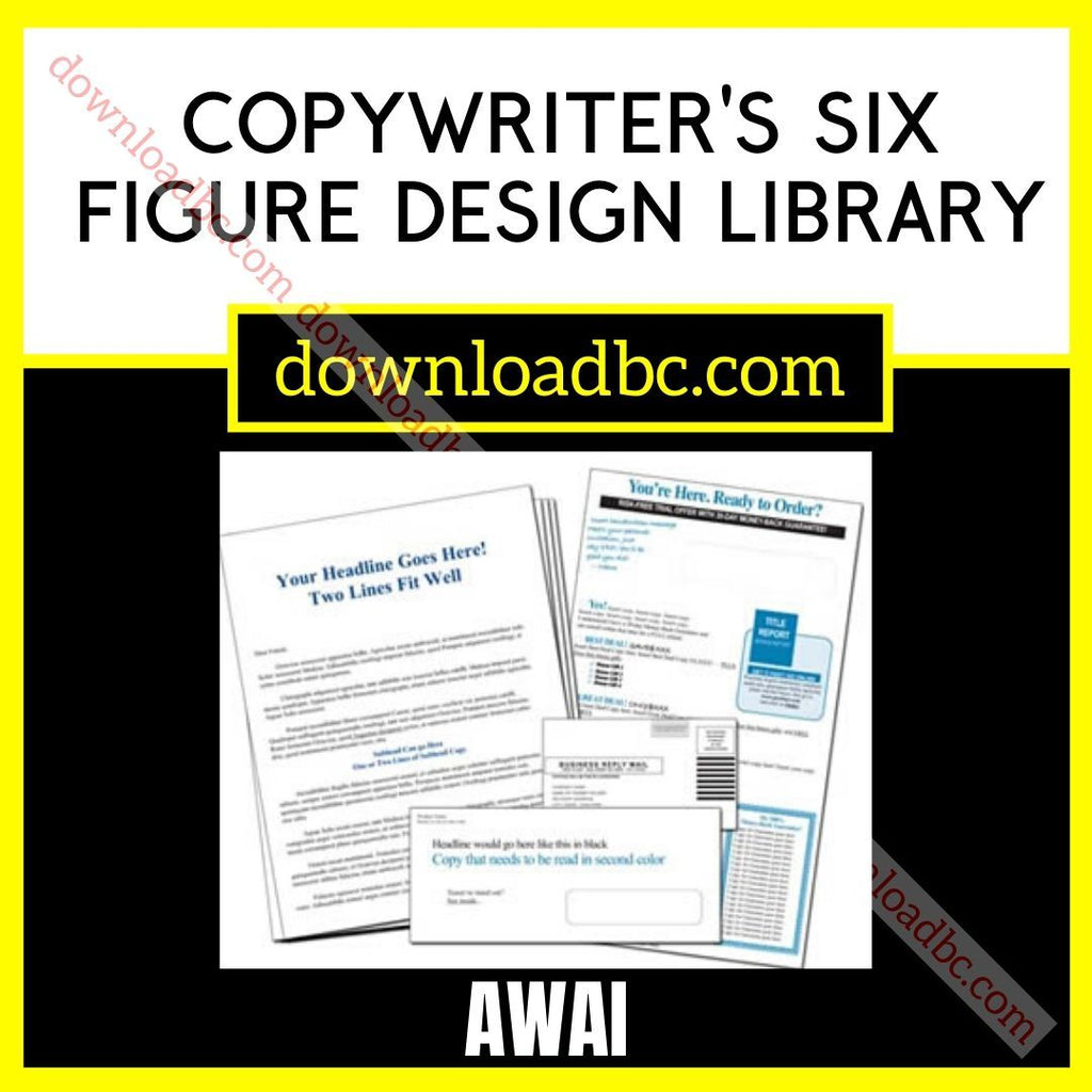 Awai Copywriter's Six Figure Design Library FREE DOWNLOAD