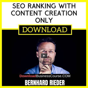Bernhard Rieder Seo Ranking With Content Creation Only FREE DOWNLOAD