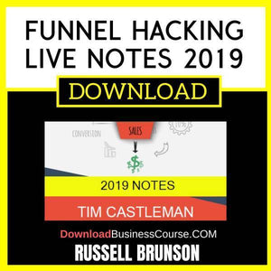 Russell Brunson Funnel Hacking Live Notes 2019 FREE DOWNLOAD