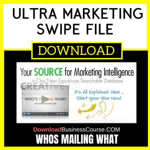 Whos Mailing What Ultra Marketing Swipe File FREE DOWNLOAD