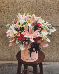 Pink Lily & Carnation | Flower Box