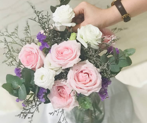 Light Pink Roses - Fresh Flower