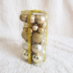 Christmas Ball 20mm/30mm/40mm 36pcs/ Box, Buy 1 Free 1