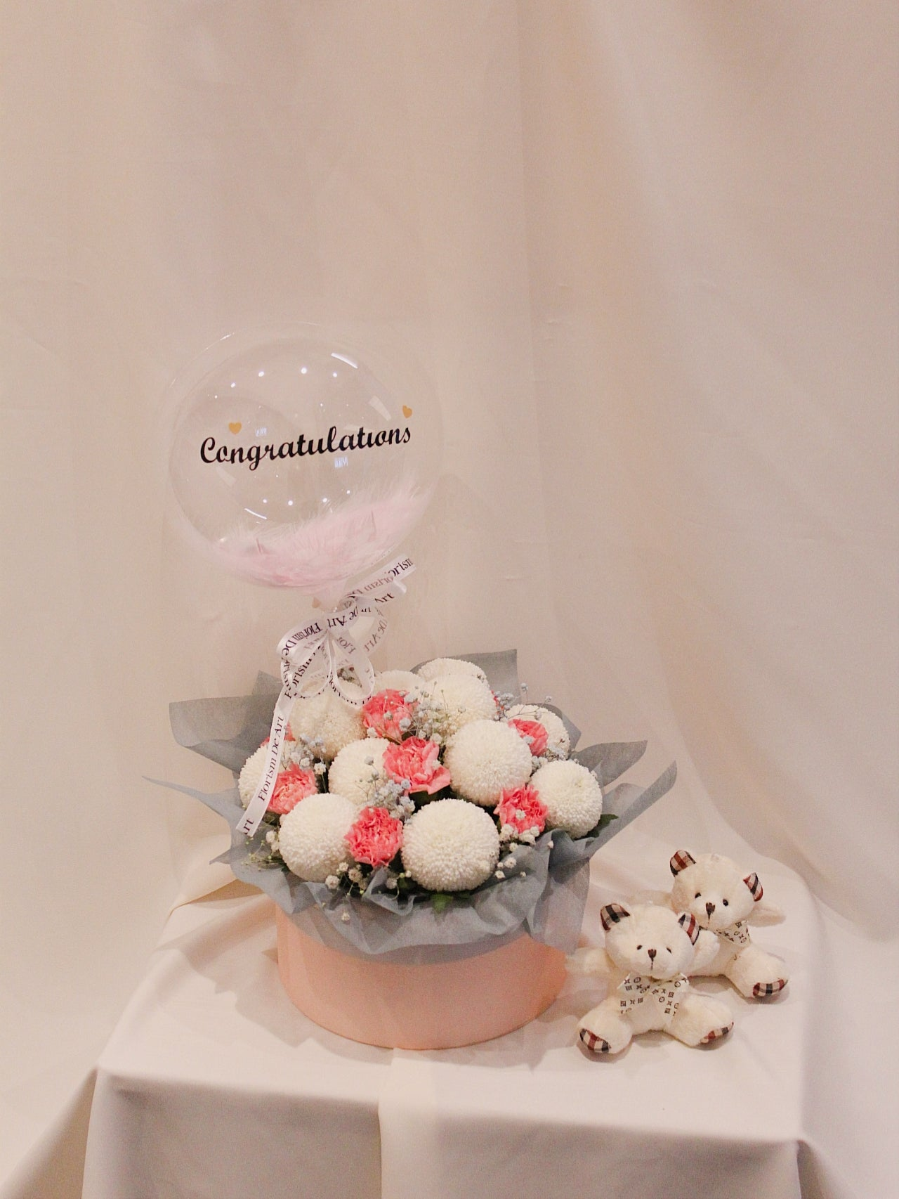 New Born Baby Flower Box & Balloon