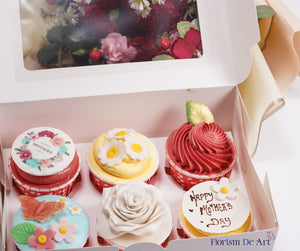 Bundle For Mother - Red Carnation & Cupcake from Hotel