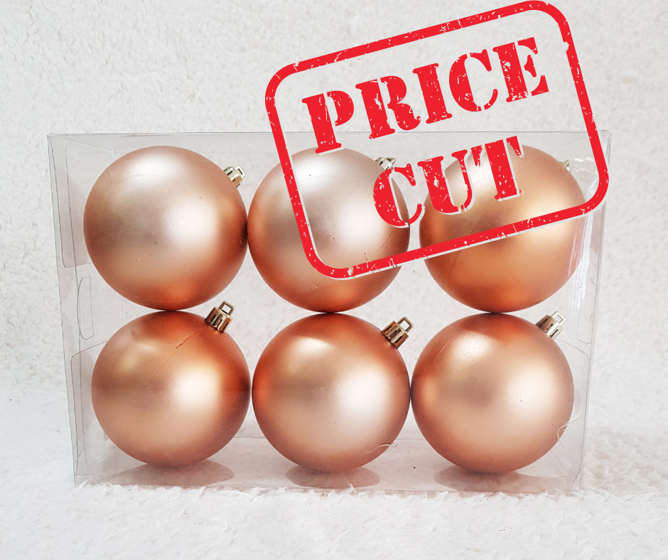 Christmas Ball (Matt Only) 80mm 6pcs/Box, Buy 1 Free 1