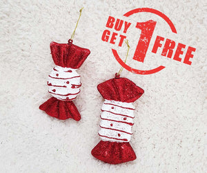 "Christmas Ornaments 4.5"" Styrofoam Candy with Hanger"