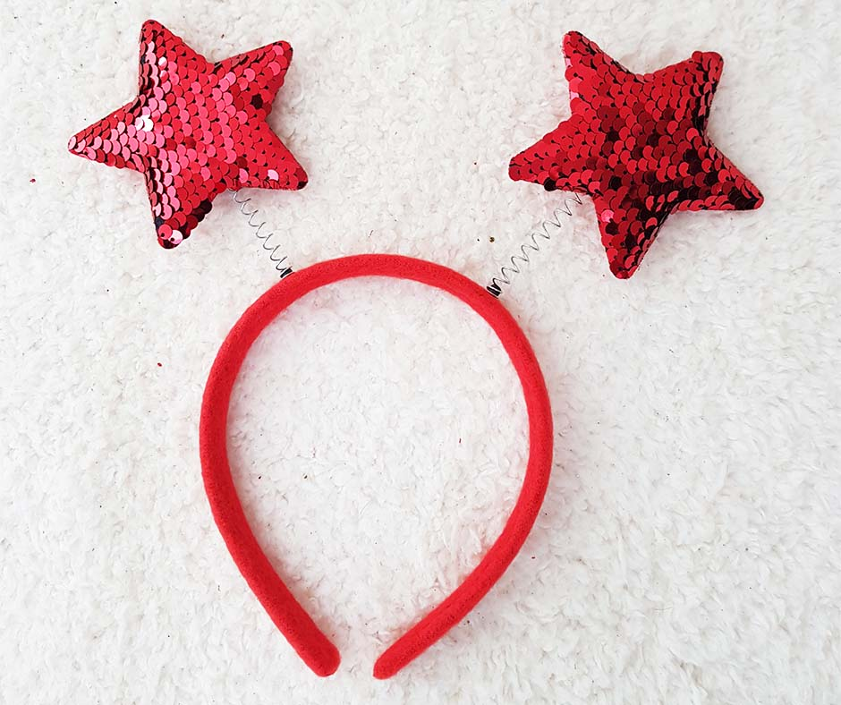 Sequin Star Head Band