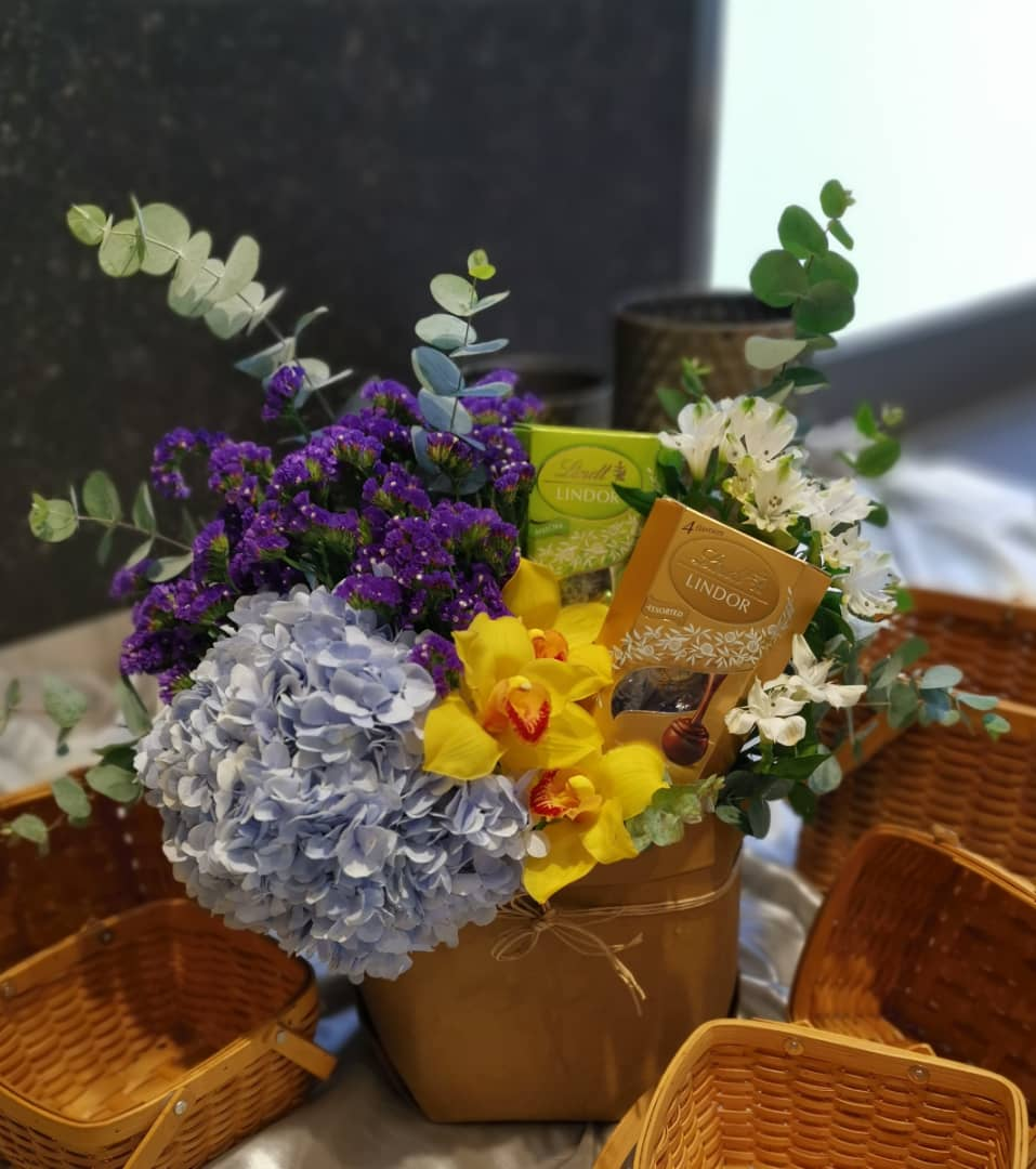 Flower & Chocolate Basket