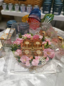 4 Flavor of Mooncake (S), | In a box with Fresh Flower | Seasonal
