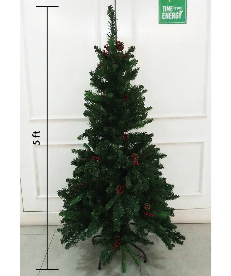 READY STOCK) Christmas Tree, 4FT/5FT GILA Fir Christmas Tree with Berry & PineCone, Premium Quality Free Baubles