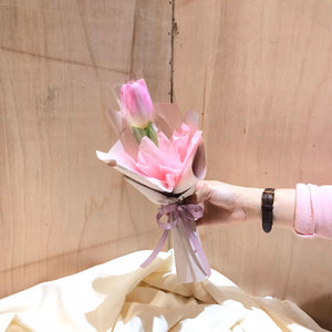 Pink Tulip | Hand Bouquet| Woman Day Special