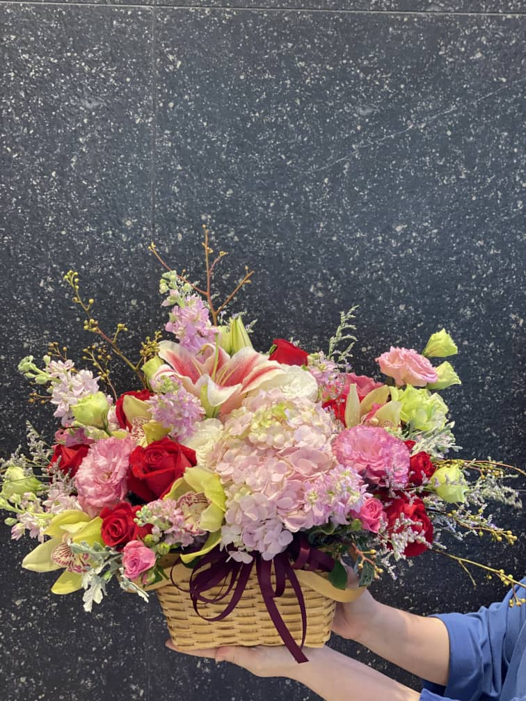 Mix Flower Basket | Flower Basket
