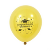 Printed Graduation Latex Balloons Gold - spreeparty