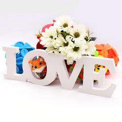 Wooden LOVE Letters White