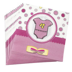 New Baby Shower Girl Napkins