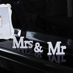 Wedding Sign MR & MRS Wooden Small Letters