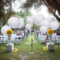 White Round  Paper Lanterns Lamp