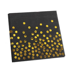 Black Gold Paper Napkins