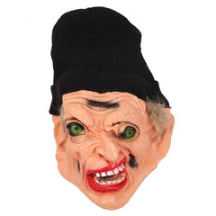 Horror Black Scarf Witch Mask Scary Green Eye