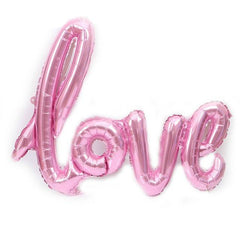 Wedding Love Letter Balloon Pink