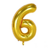 Gold 6 Balloon - spreeparty
