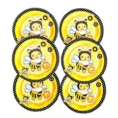 Cartoon Bee Disposable Paper Plates