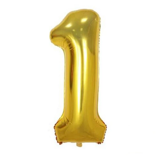 Gold 1 Balloon - spreeparty