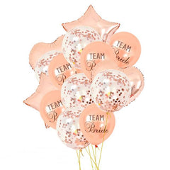 Team Bridal To Be  Rose Gold Balloons