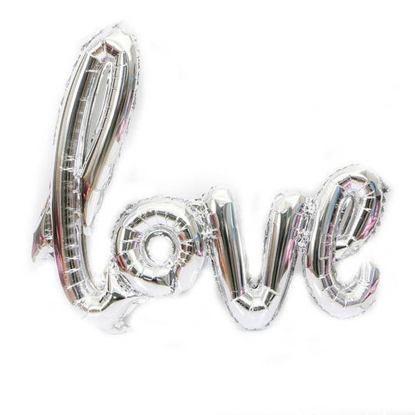 Wedding Love Letter Balloon Sliver - spreeparty