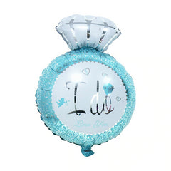 Wedding Diamond I Do Ring Blue Balloon